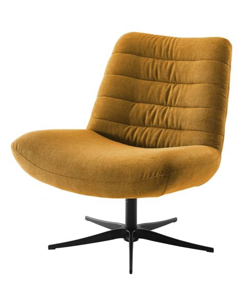 Comfortabele Draaifauteuil Stripe - Velours Goud