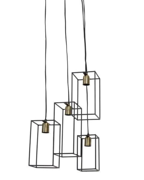 Hanglamp Valtimo zwart-brons