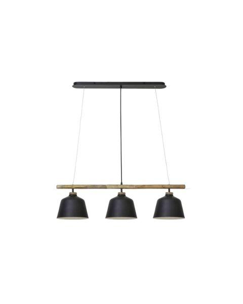 Hanglamp Oakfield hout zwart