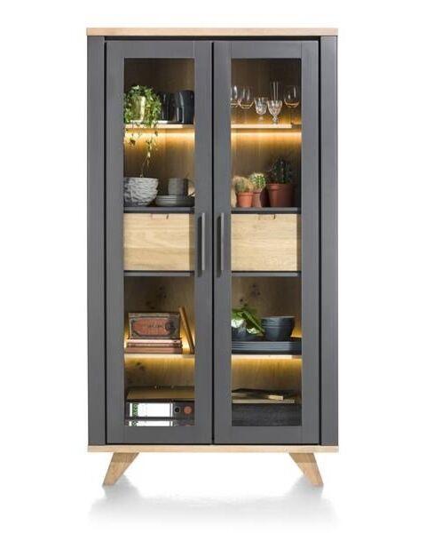 Jardin, Vitrine 110 Cm - 2-Glasdeuren + 2-Laden (Binnenin) (+ LED)