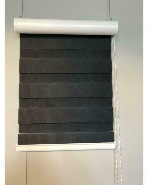raamdecoratie duo rolgordijn zwart