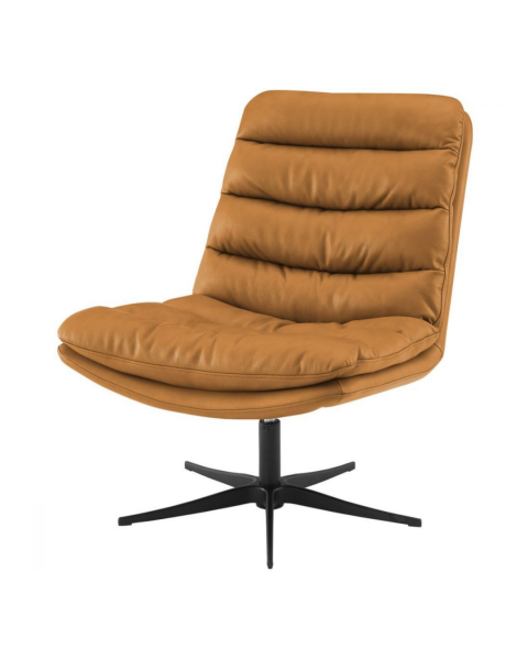 Lounge Fauteuil James Lage Rug Bull Camel