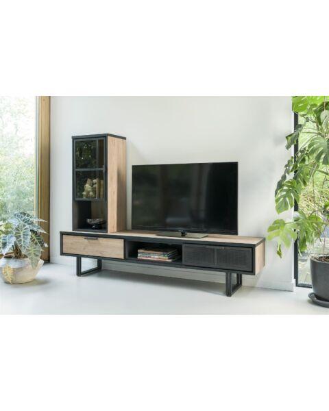Avalon, Tv-Dressoir 200 Cm. - 2-Laden + 1-Niche