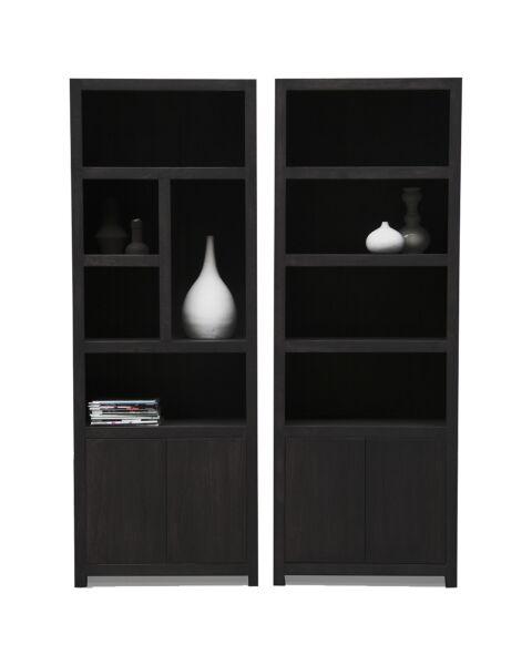 moderne boekenkast zwart