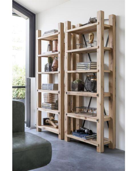 Maitre, Boekenkast 75 Cm - 6-Planken Naturel