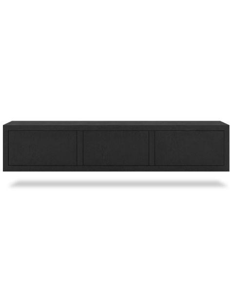 Zwevend TV-meubel Diamond Zwart 180cm