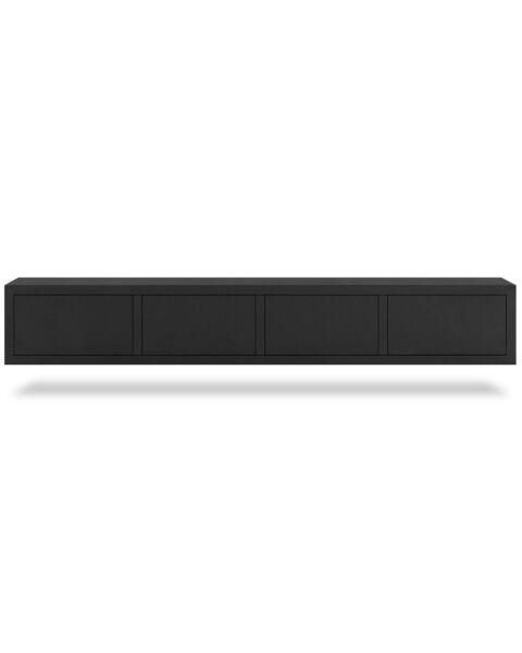Zwevend TV-meubel Tertfort Zwart 240cm